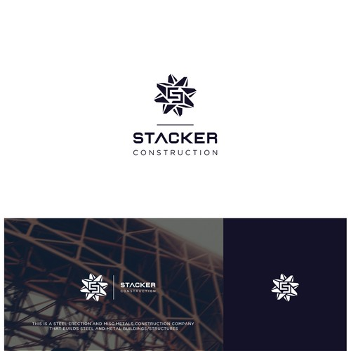 bold,geometric logo for metal construction .