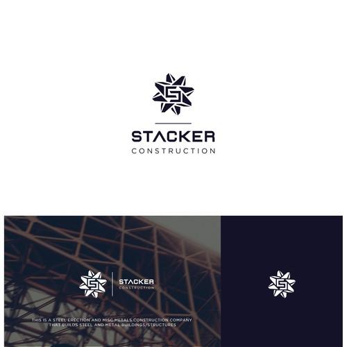bold,geometric logo for metal construction .