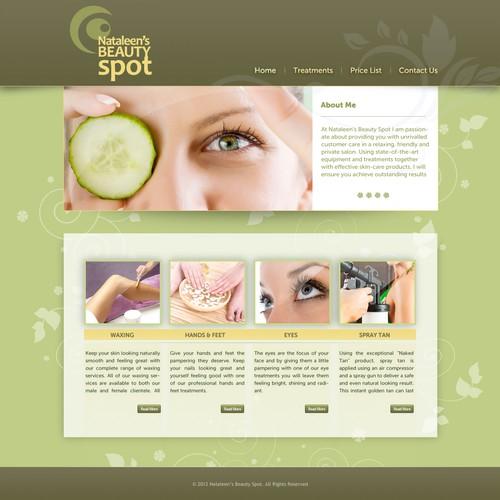 nataleen's beauty spot needs a new website design