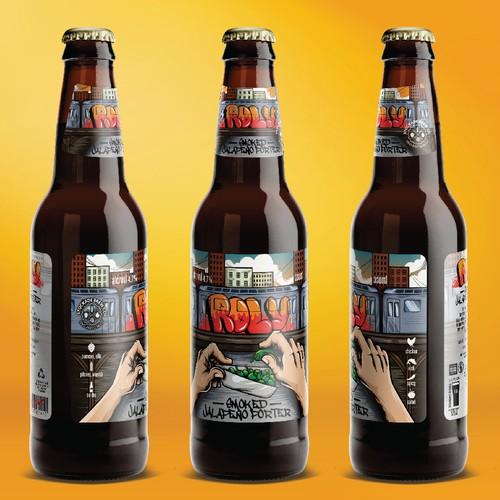 roly beer label