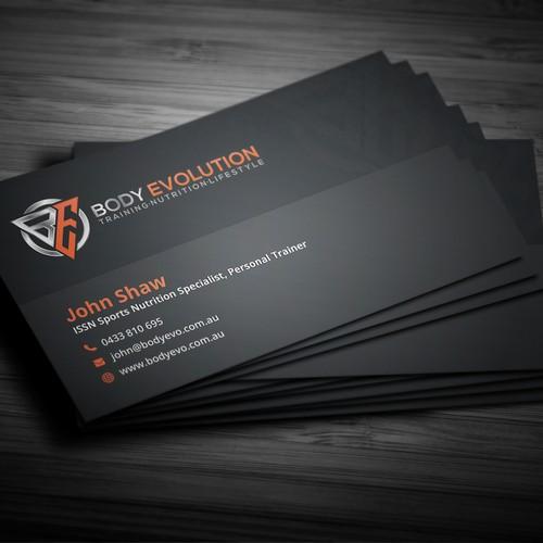 Business card design for Body Evolution