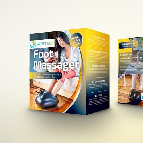 Resteck foot massager box design