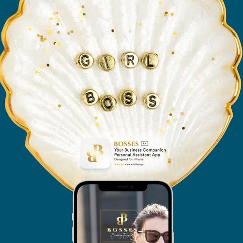 Clean Crisp Luxurious App Easy to use for Female Entrepreneurs