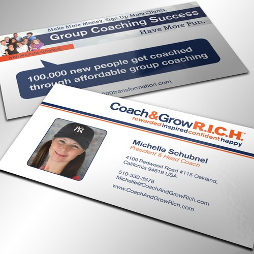 Business Cards for Coach and Grow R I C H