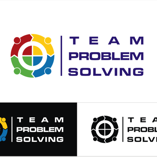 Create a logo that embodies people solving problems in teams