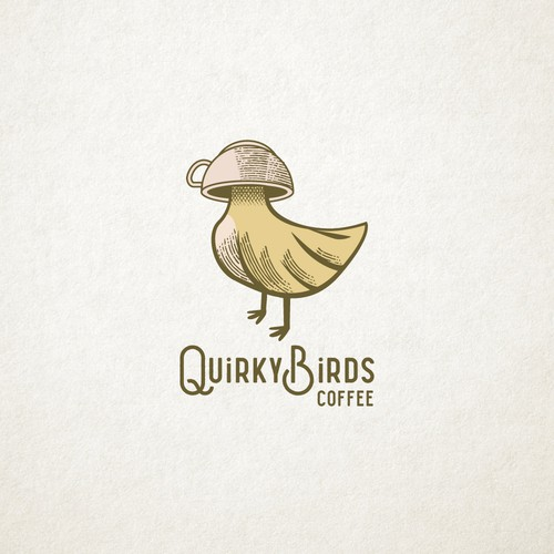 Logo for Quirky Birds Coffee