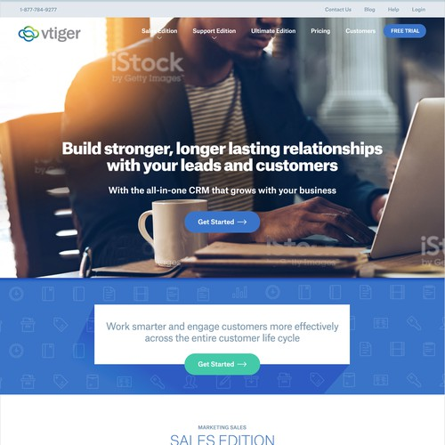 Webdesign Responsive Layout for Agency