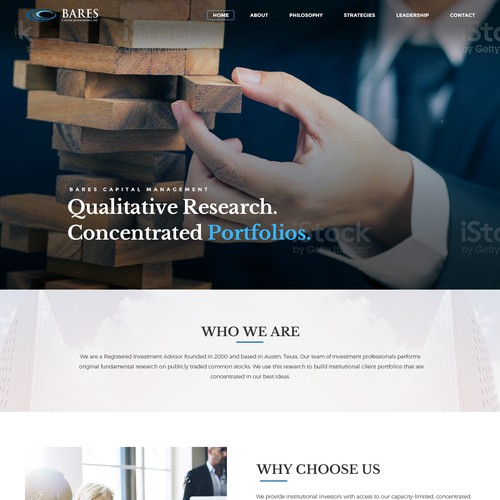 Investment Manager Website Redesign