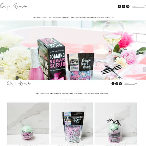 Website - Onyx Brands Professional Beauty Products