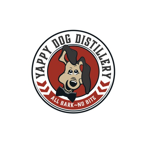 Distillery logo with dog.