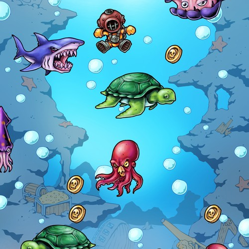 Art needed for iOS Down-Jumping Diving Game