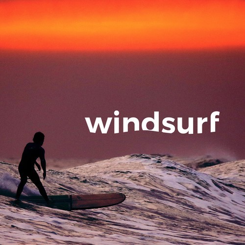 Bold wordmark for a surfshop