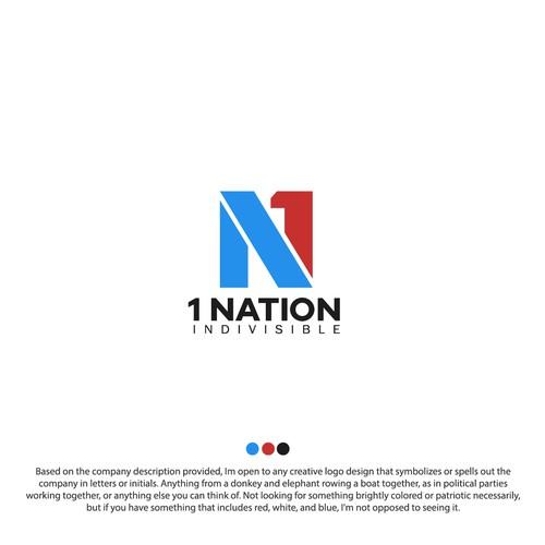 1 NATION LOGO DESIGN