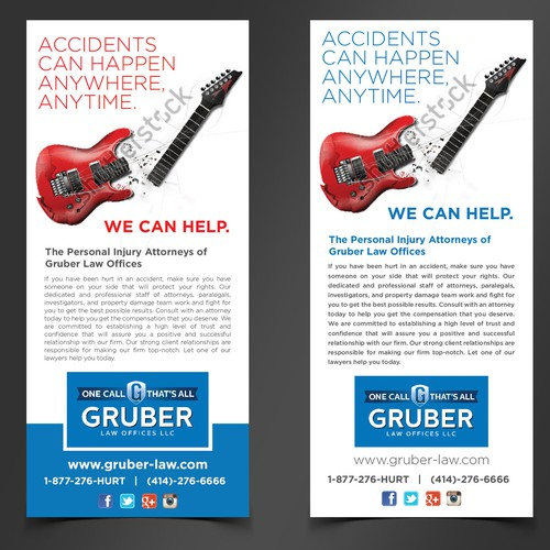 Music Event Magazine Ad for Personal Injury Lawyer