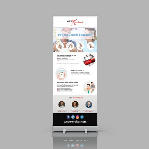 WebExercises Retractable Banner