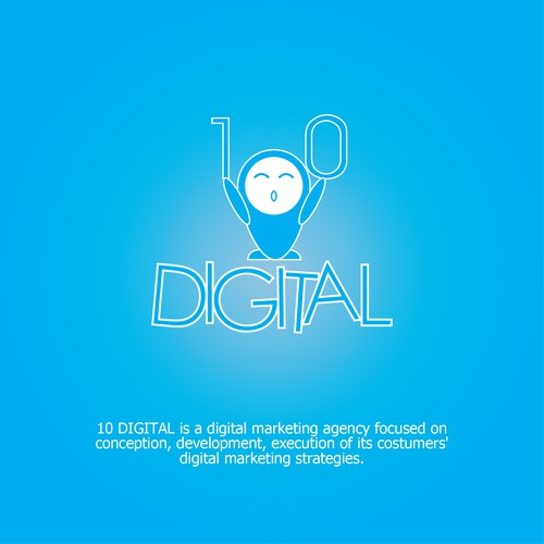 Logo concept for 10 Digital