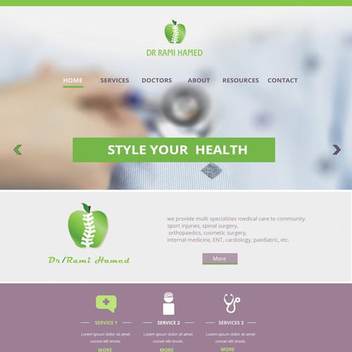 create medical center website