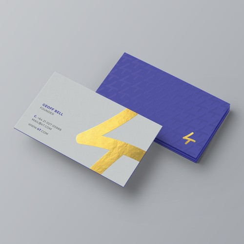 Elegant and gorgeous business card for 4t.
