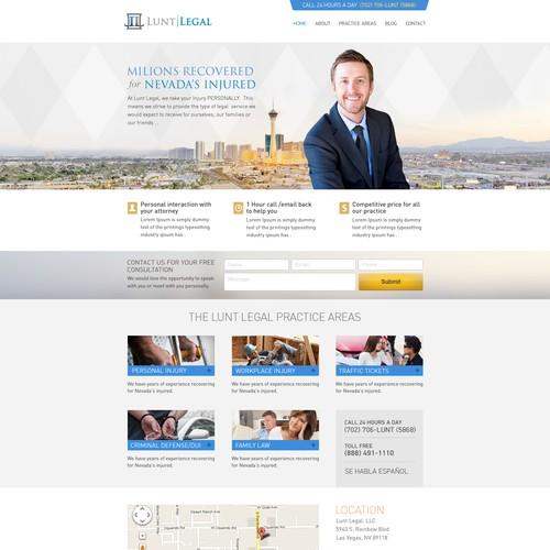 Lunt Legal, LLC needs a new website design