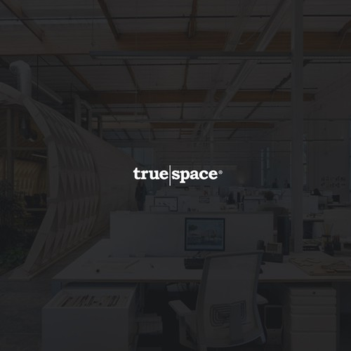 Bold logo for co-working space 'True Space'