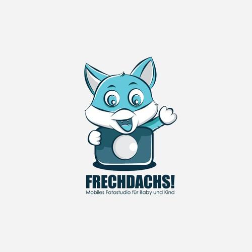 Cute cartoon cat logo for frechdashs
