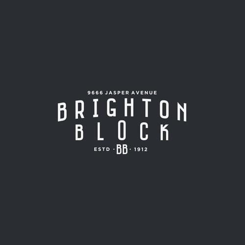 Simple Vintage Logo for BRIGHTON BLOCK.