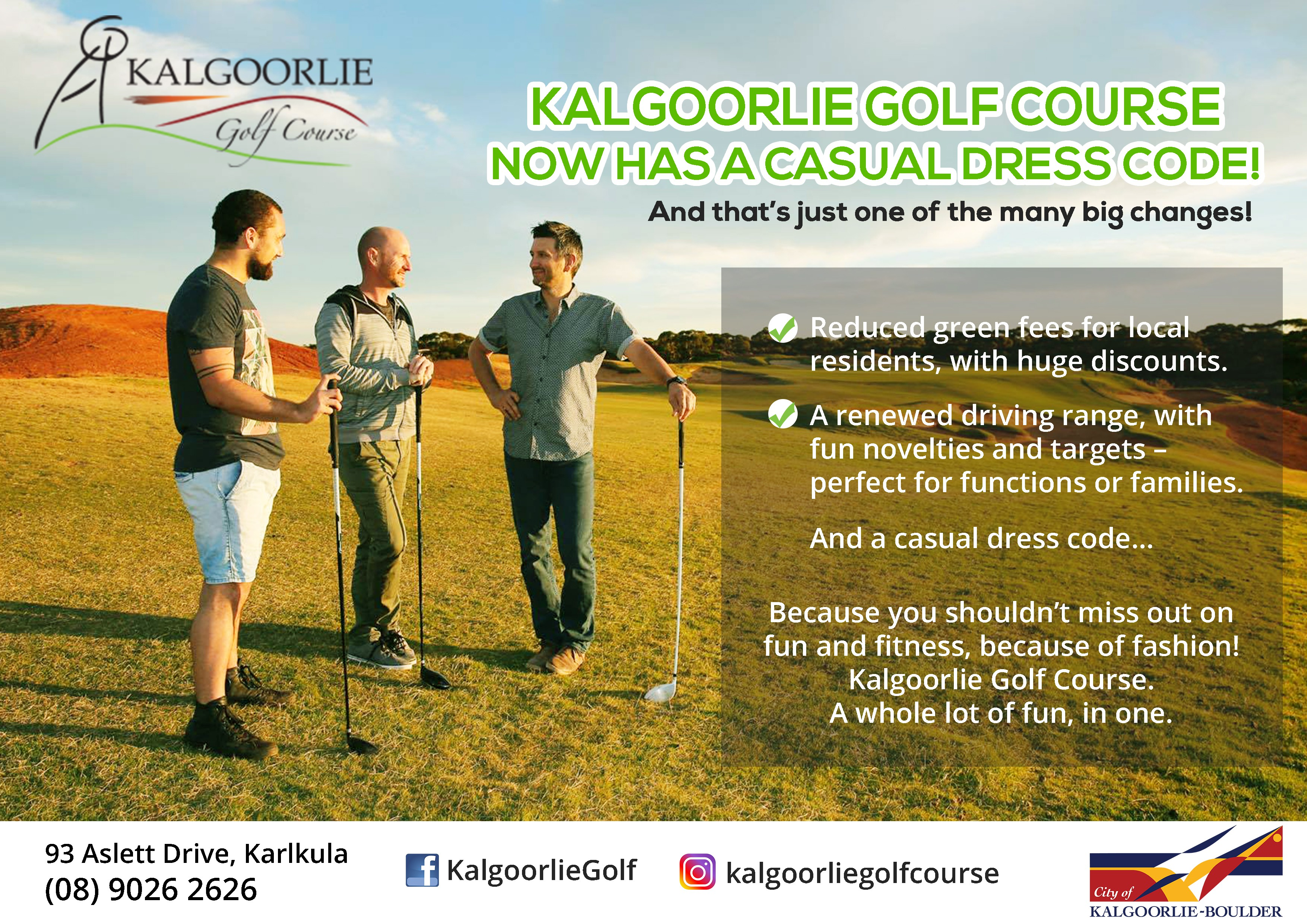 Kalgoorlie Golf Course flyers!