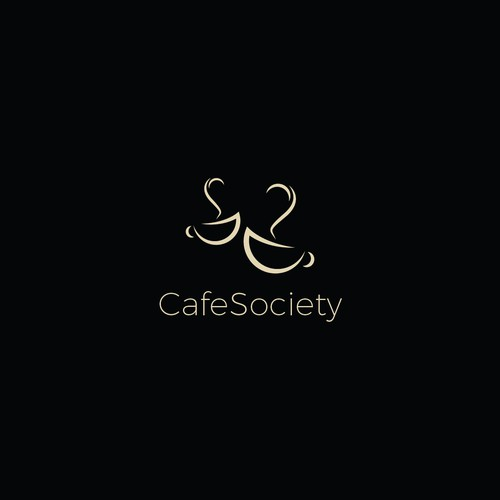 cool sophisticated logo for Cafe Society
