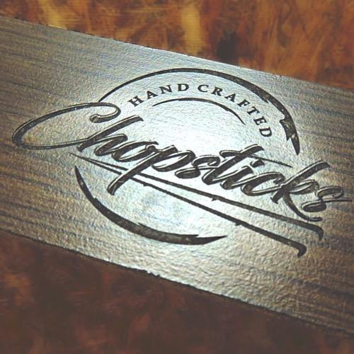 Logo design for handcrafted chopsticks manufactured