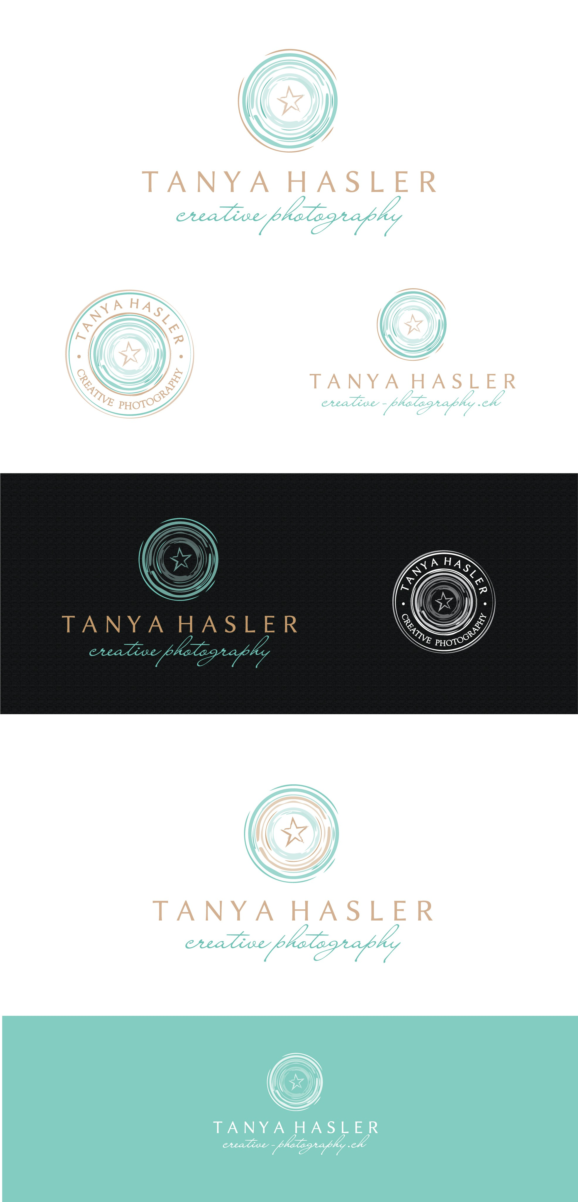 create a creative logo for a professional photographer