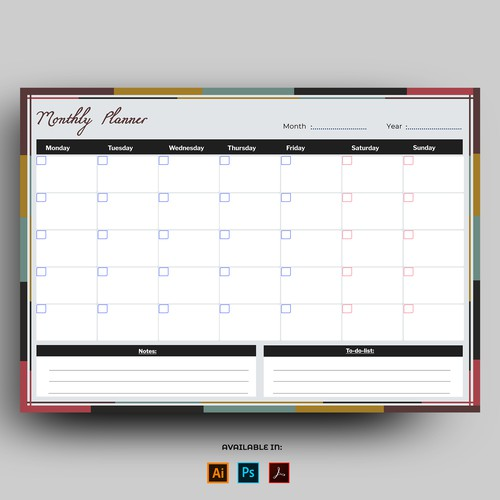 Monthly Task Planner