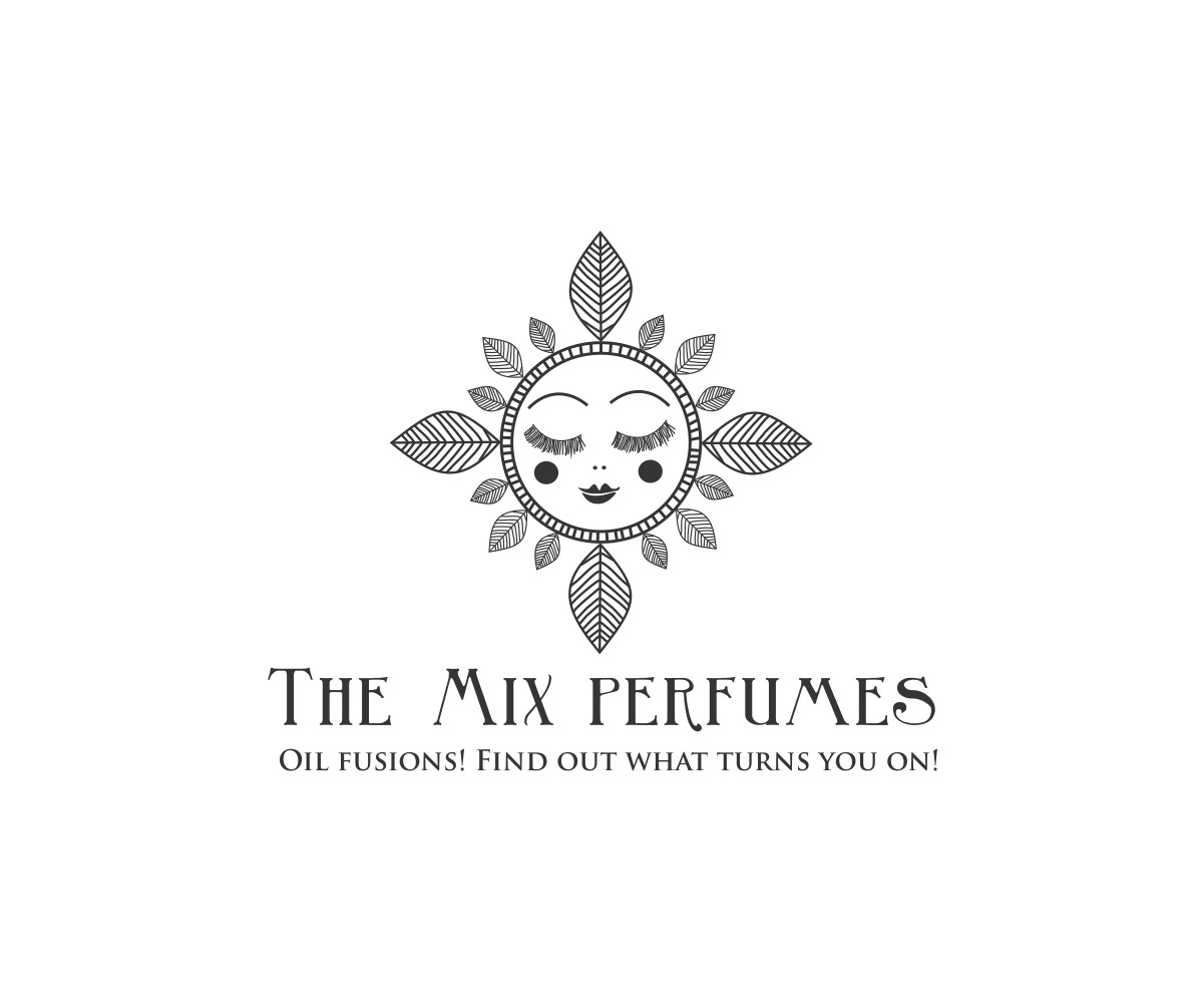 Capture the essence of creating perfume with a powerful logo for The Mix perfumes