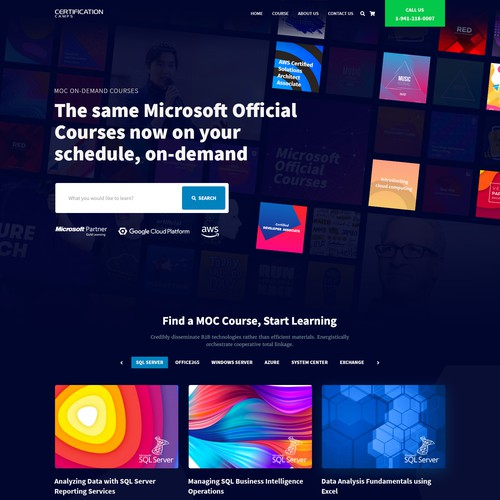 Concept design for on Demand Microsoft Course