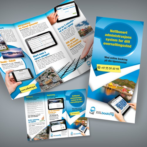 Create the next brochure design for XXLbooking