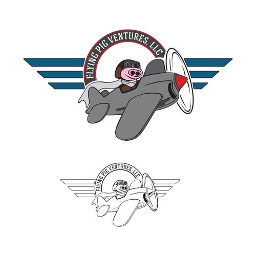 Logo Concept for Flying Pig Ventures, LLC
