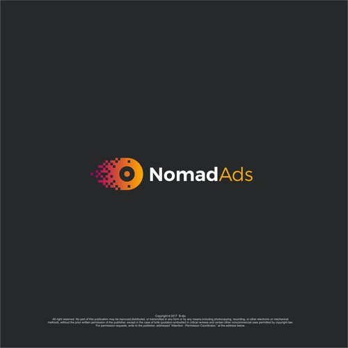 modern logo for nomad ads