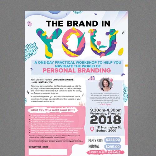 Personal branding expert needs flier for women in business workshop