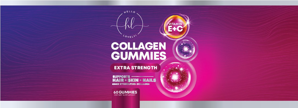 Hello Lovely needs a Collagen Gummies product label