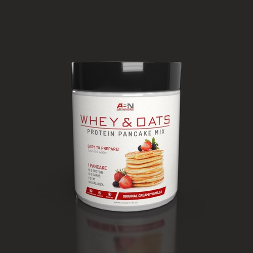 Label for Protein Pancakes Mix