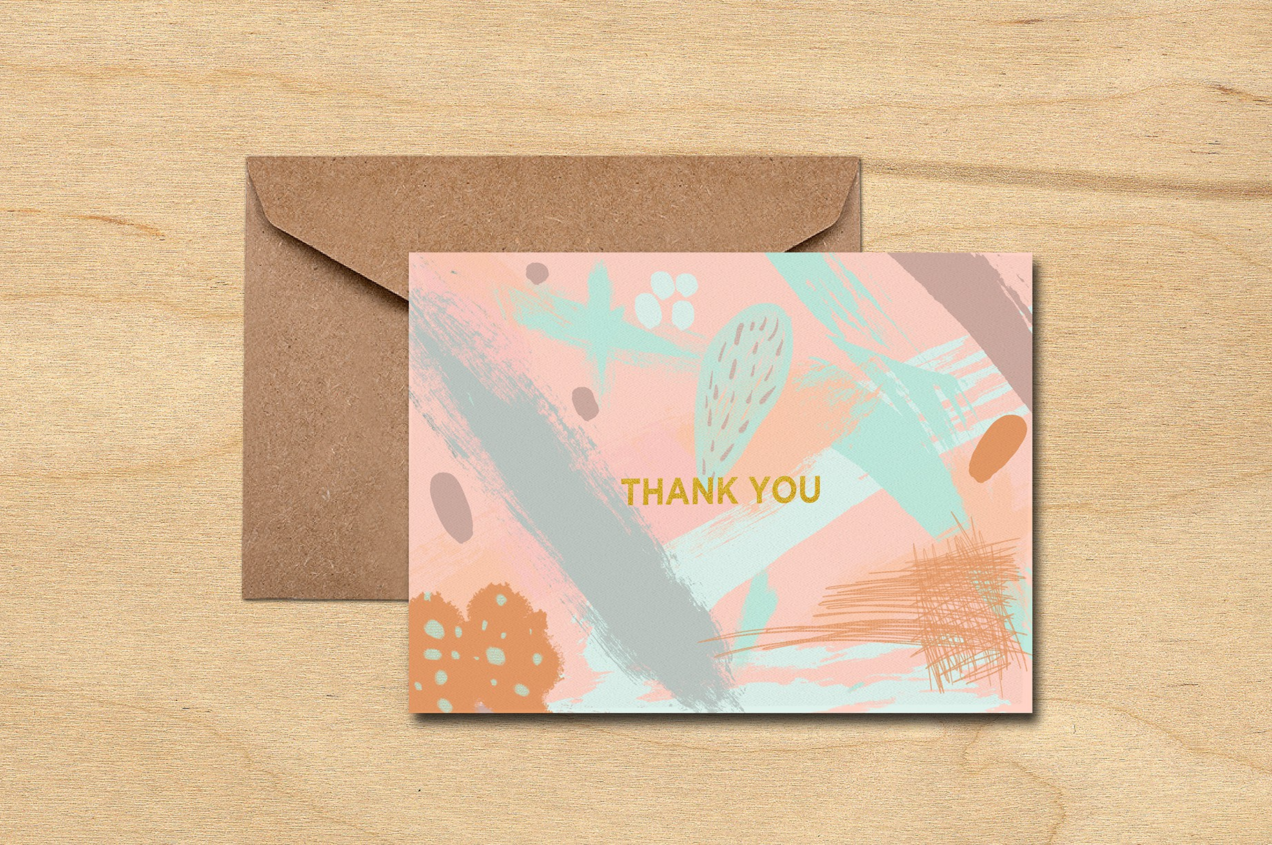 Abstract Thank You Card (Set)