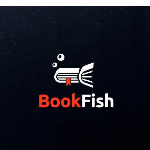 Creative Book Fish Logo