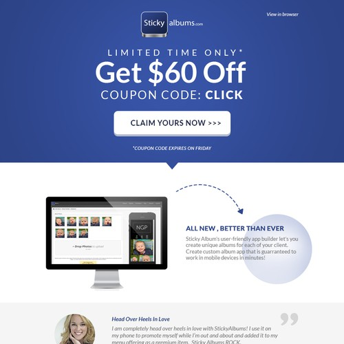 Calling awesome designers!  Create marketing e-blast for successful tech photography company