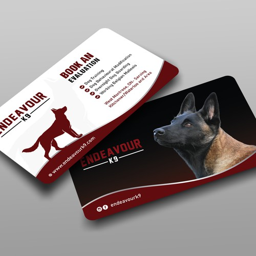 Dog Boarding, Training Breeding Business Card