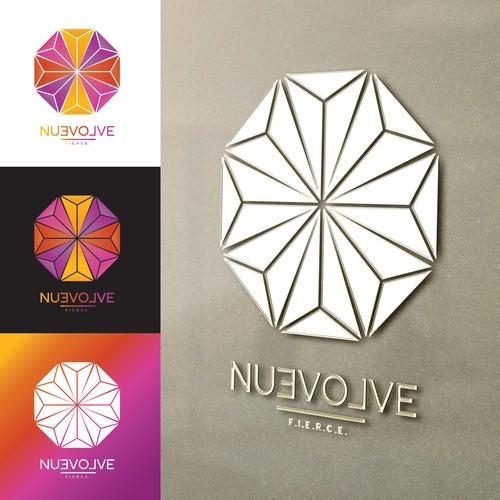 Origami Logo Concept for nuevolve