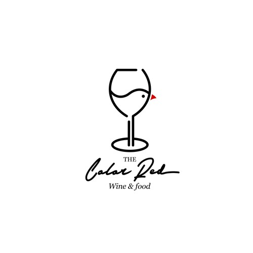 Minimalist logo for wine & food restaurant
