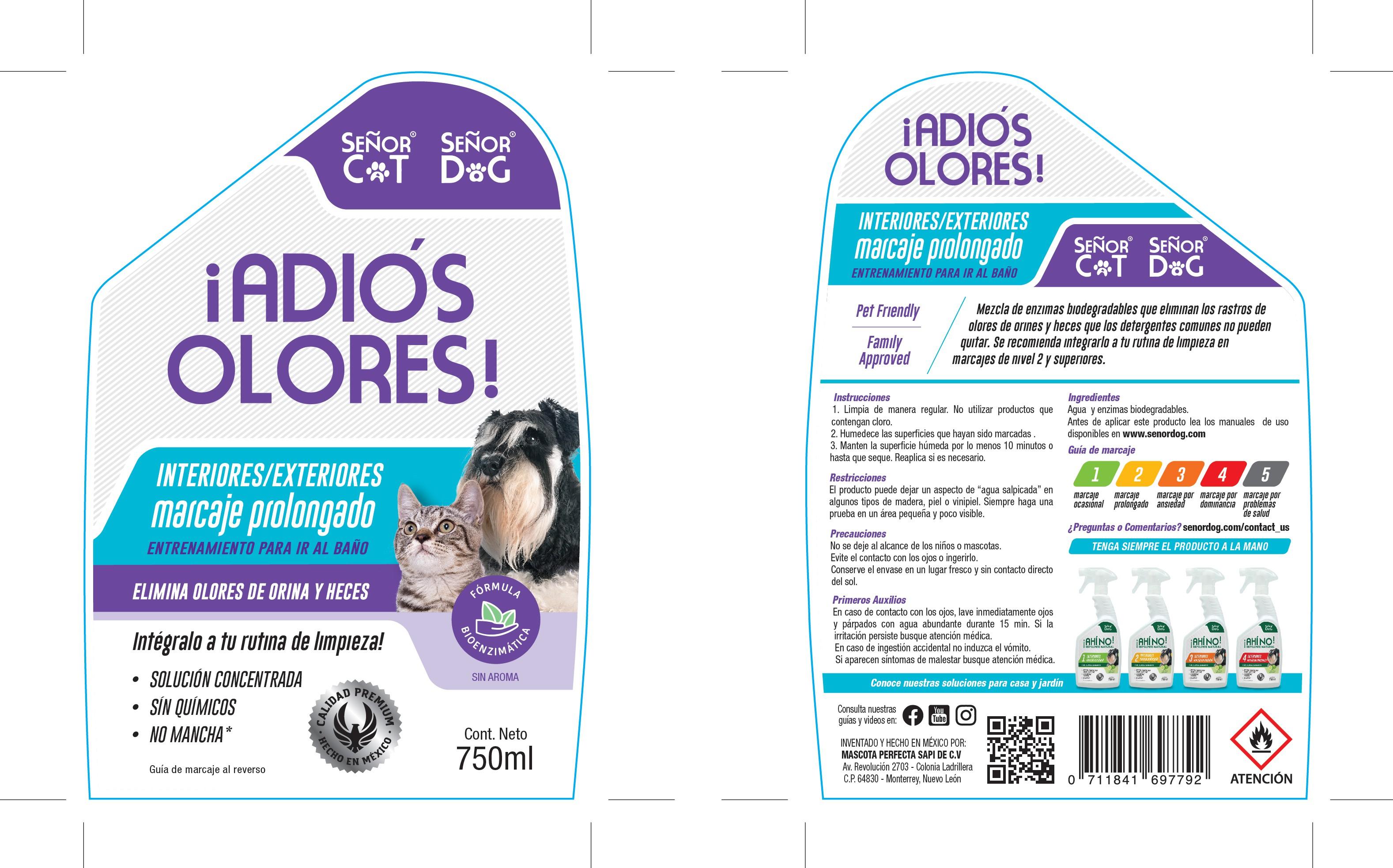 Packaging y etiqueta de un marca de productos para perro