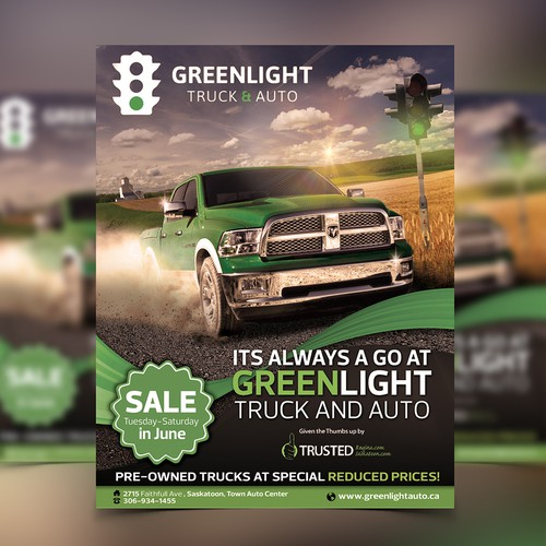 Green Light truck and auto flyer