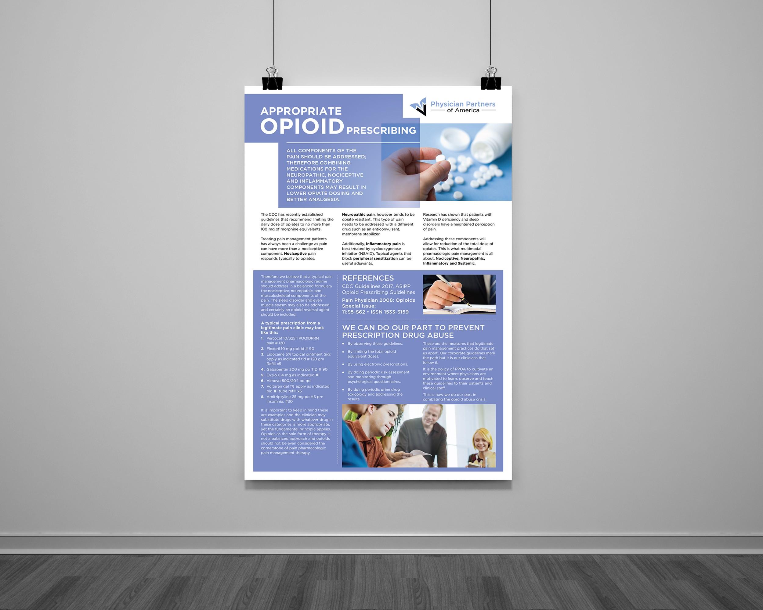 Pharmacy Opioid Flyer 24x36 in.