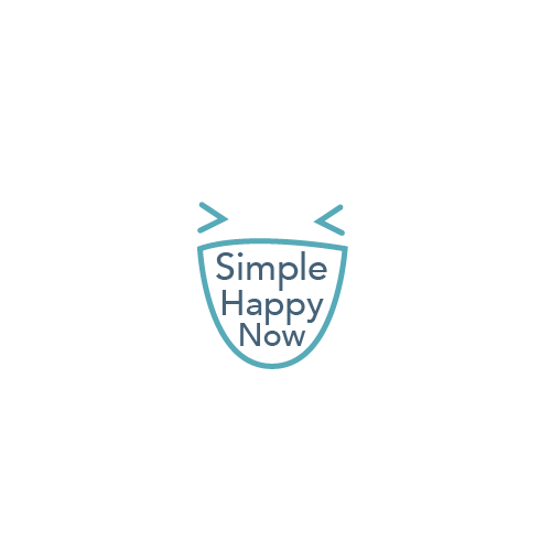 Create a simple, clean and playful logo design for Simple Happy Now