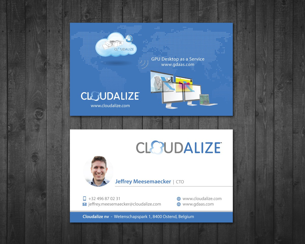 Business card for a new innovative cloud platform